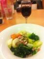 赤ワインと温野菜サラダ / デニーズ北池袋店