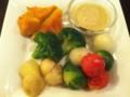 温野菜サラダ 豆乳マスタードドレッシング @ vivo! BEER+DINING BAR