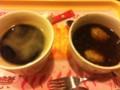 おしることホットコーヒー@モスバーガー池袋西口店
