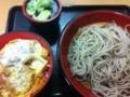 ミニヒレカツ丼もりそばセット ¥500 / 富士そば池袋店