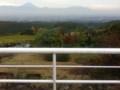 登美の丘ワイナリーから富士山を望む