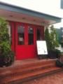 登美の丘ワイナリー内レストラン「ワインテラス」入り口