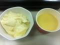 おぼろ豆腐とコーンスープ