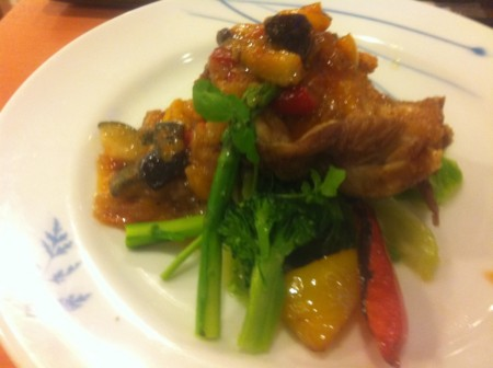 緑黄色野菜とマテ茶鶏の野菜ソース