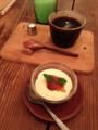 本日の甘味と珈琲のセット ¥750