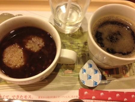 玄米餅のおしることブレンドコーヒー