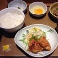 納豆朝食とミニから揚げ