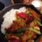 1日分の野菜カレーと温泉卵 @ 野菜を食べるカレーcamp express 池袋店