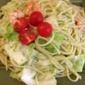 海老と春キャベツのジェノベーゼパスタ大盛 at かっぱ食堂