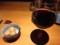 里芋の煮付けとグラスワイン赤