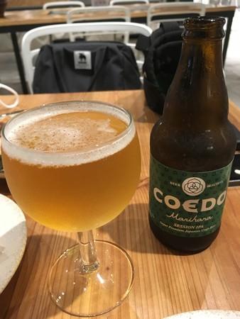 もうひとつのdaidokoro で、COEDO ビール 毬花  セッションIPA を飲みました。
