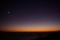 月と夕焼け_121019
