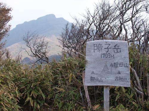 障子岳の山頂