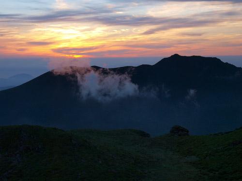 大船山の朝焼け