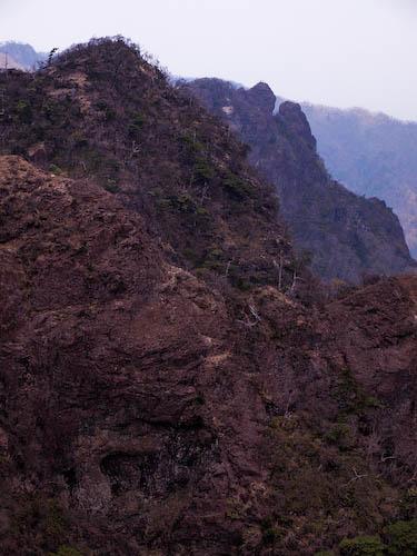第五展望所より見る天狗岩