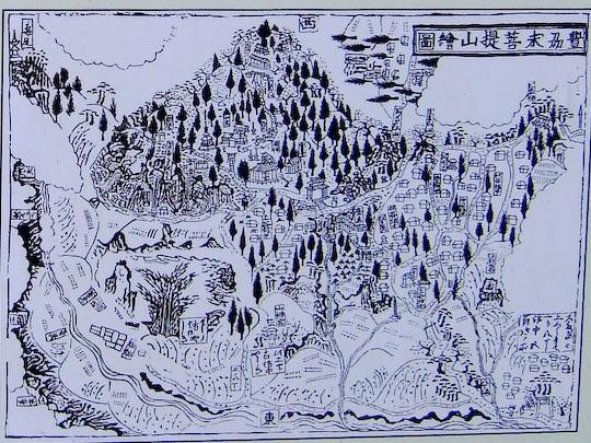 求菩提山絵図(明和元年)