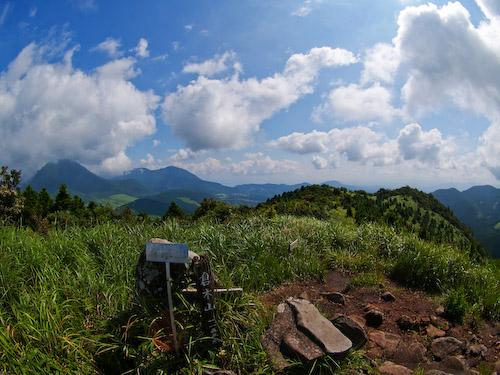 倉木山の山頂にて