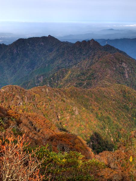 祖母山の稜線〜大障子岩
