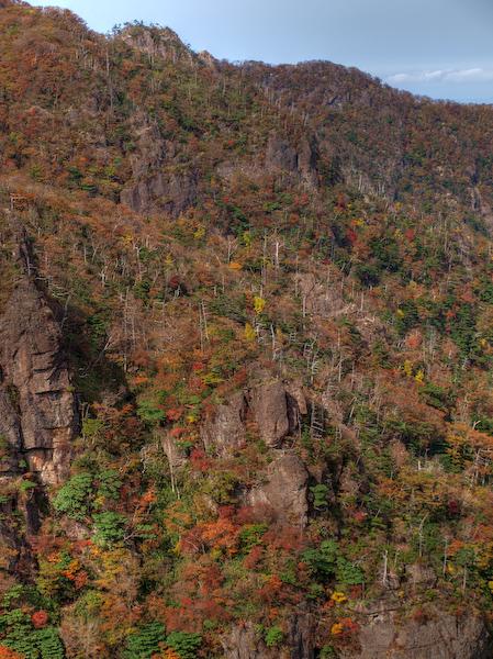 祖母山の岩稜(ウラ谷岩)