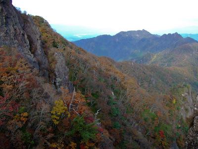 大障子岩 from 祖母山
