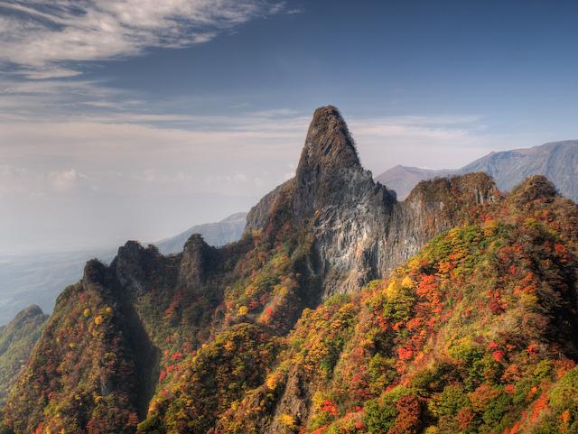 大船山御池の紅葉と雲海