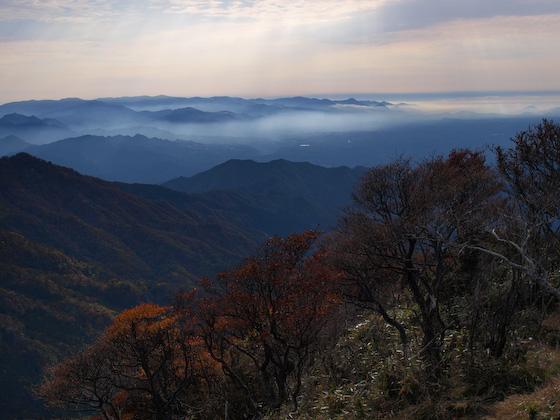 山都町方面 from 祖母山