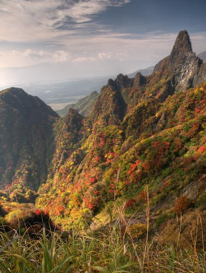 天狗峰と地獄谷
