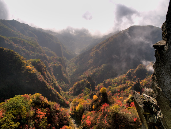 霧の地獄谷
