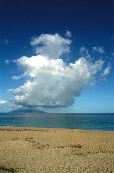 永田浜でみた虹