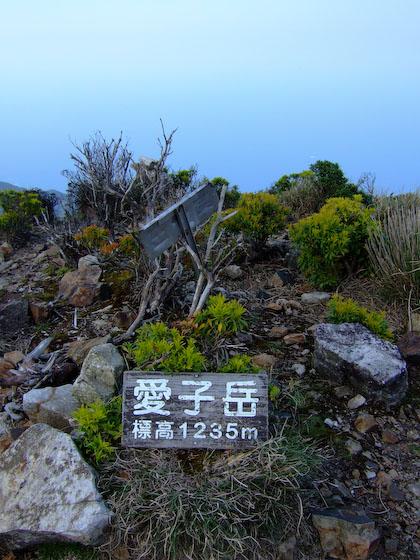 愛子岳の山頂