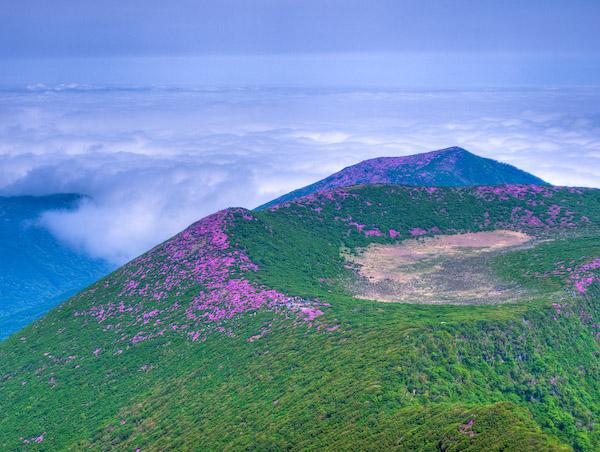 北大船山、平治岳、雲海(HDR合成)