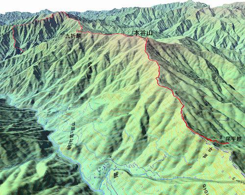 本谷山GPS