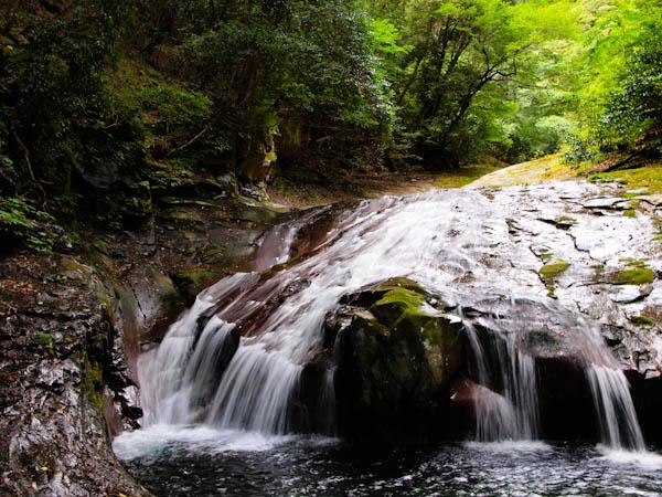 撮影地の上流にある小滝