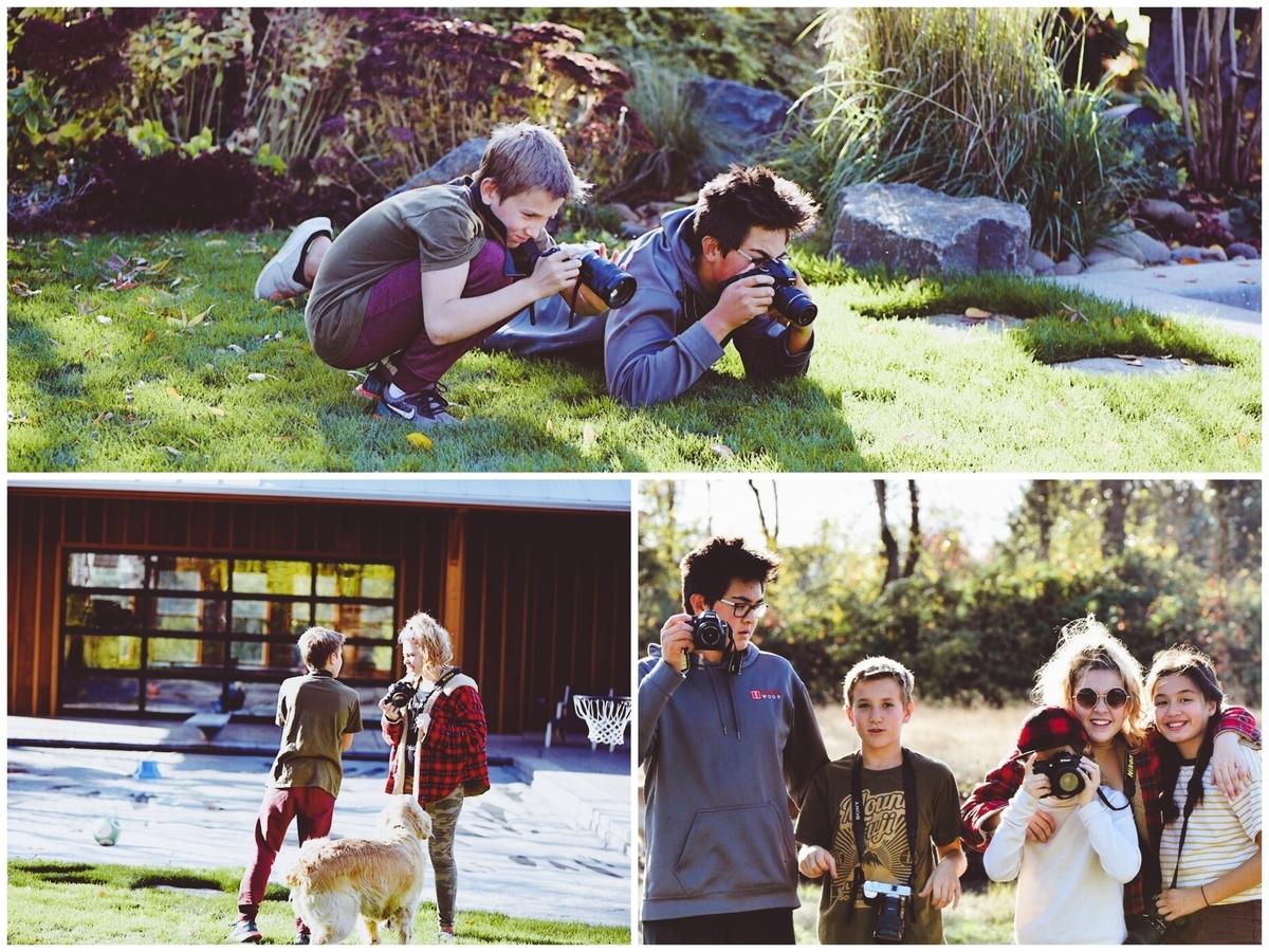 写真を習う子どもたち