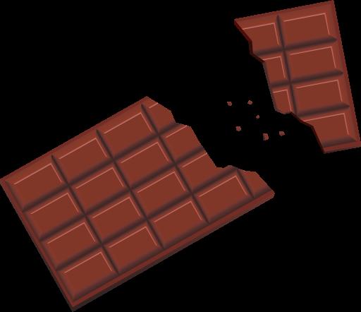 割れた板チョコイメージ