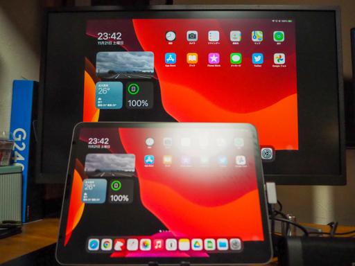 デカいiPadと、普通のiPad