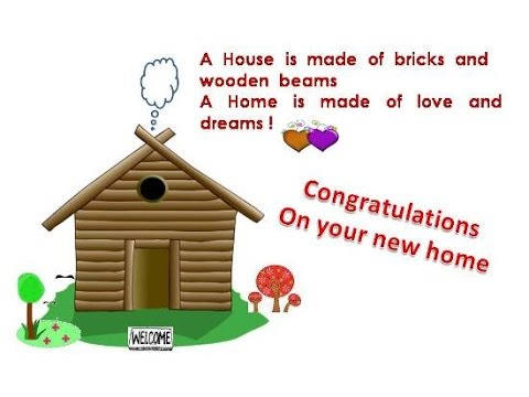 Housewarming quotes congratulations wishes for new house for Housewarming party message