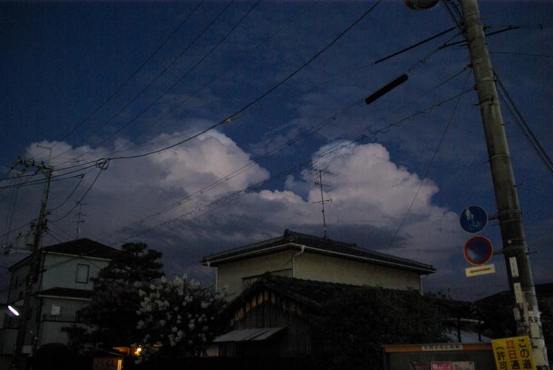 7:00 pm 凄い空を見た、と思ったの画像