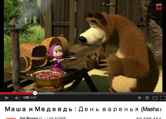 2:17 pm (マーシャと熊)Маша и Медведьの画像