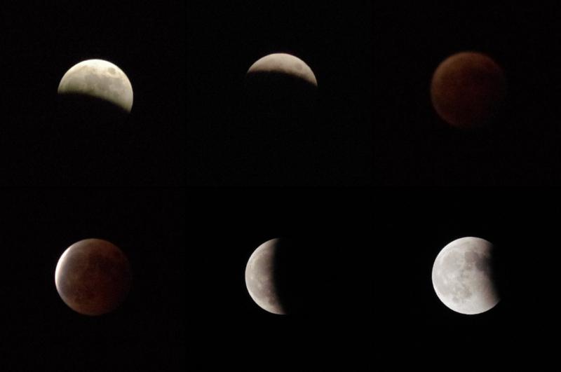 6:49 pm 〜 9:25 pm 皆既月食の画像
