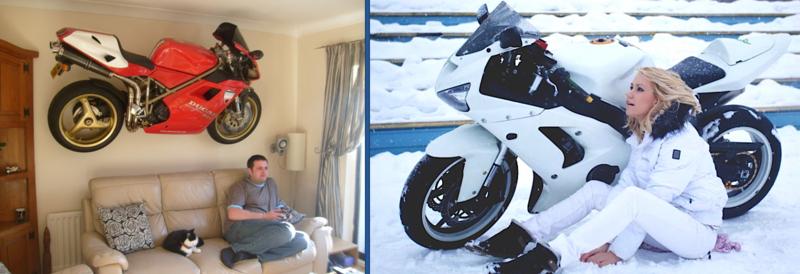7:24 pm 冬のバイク壁紙の画像
