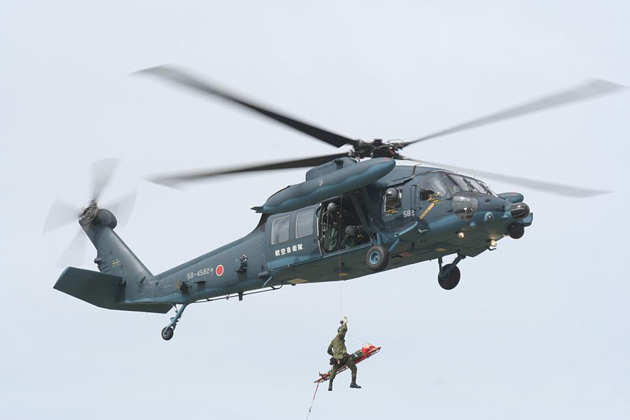 救難展示するUH-60J
