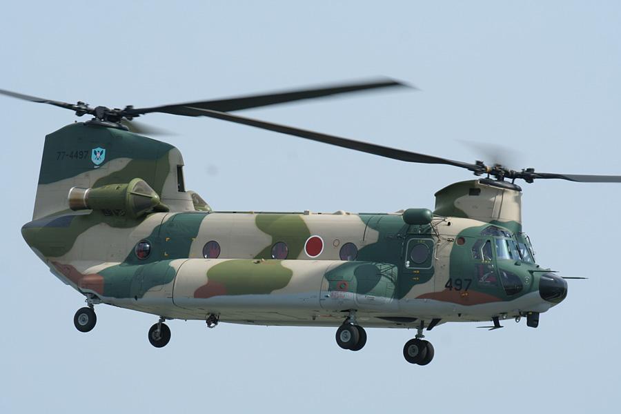 帰投するCH-47JA@静浜基地航空祭2007