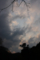 里山の夕空