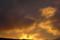 ベランダから見た夕焼け