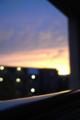 [風景][夕焼け]ベランダから見た夕焼け