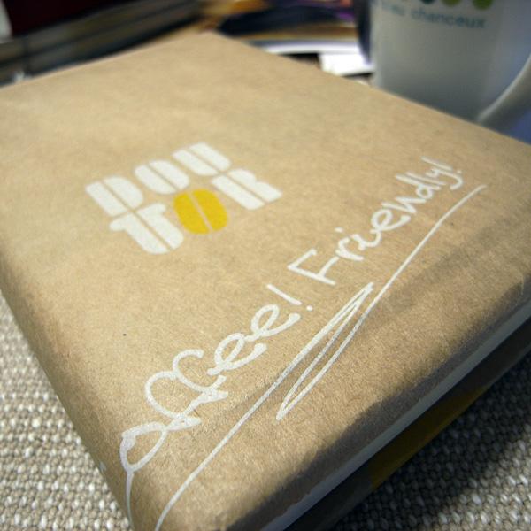 ドトールの紙袋製ブックカバー