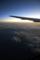 機上から観る夜明け