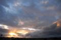 [風景][夕焼け]カイルア・コナからの帰りに見た夕焼け