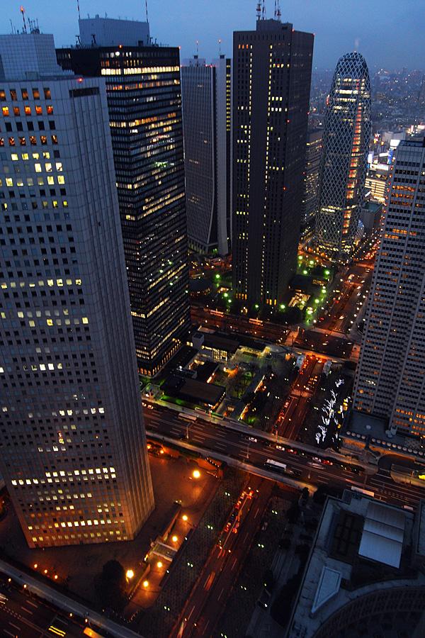 都庁展望台からJR新宿駅方面